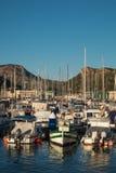 Iate e barcos na porta de Cartagena. Imagens de Stock