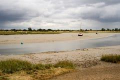 Iate e barcos no estuário de Maldon Fotos de Stock Royalty Free