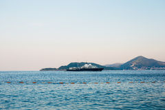 Iate e barcos no mar de adriático Imagens de Stock