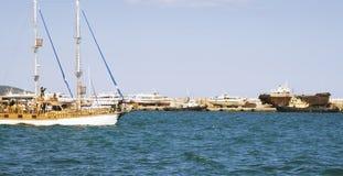 Iate e navios Foto de Stock Royalty Free