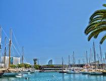 Iate em Barcelona Fotos de Stock Royalty Free