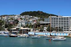 Iate em Clyde Quay Marina Oriental Bay Wellington Fotos de Stock Royalty Free