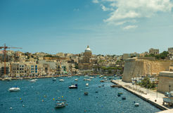 Iate em Malta Fotografia de Stock