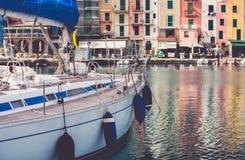 Iate em Porto Venere Itália Foto de Stock
