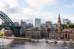 Iate em Tyne River Fotografia de Stock Royalty Free