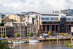 Iate em Tyne River Fotos de Stock Royalty Free