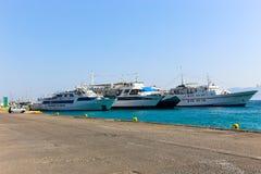 Iate - ilhas de Grécia Foto de Stock