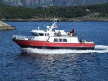 Iate luxuoso do barco de motor Imagens de Stock