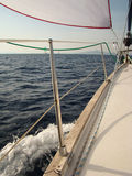Iate no mar Foto de Stock Royalty Free