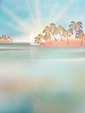 Iate no mar no por do sol. EPS 10 ilustração do vetor