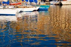 Iate no porto Foto de Stock
