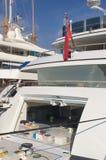 Iate no porto de Monaco Foto de Stock Royalty Free
