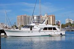 Iate no porto de Sarasota Imagem de Stock
