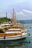 Iate no porto, KaÅ, Turquia Fotografia de Stock