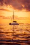 Iate recreacional no Oceano Índico Foto de Stock Royalty Free