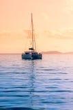 Iate recreacional no Oceano Índico Fotos de Stock