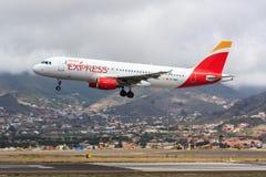 Ibéria Airbus expresso A320 em Tenerife Fotografia de Stock