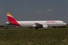 Ibérie Airbus A321 Photos libres de droits