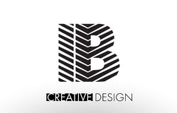 IB I B Lines Letter Design with Creative Elegant Zebra Stock Photos