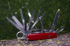 Free Ibach, Switzerland 02.02.2020 - Opened Red Swiss Army Knife Victorinox Royalty Free Stock Photos - 177751738