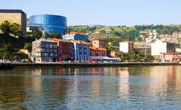 Ibaizabal river in Bilbao Stock Photo
