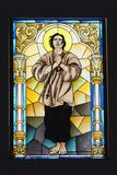 Ibajay St. Peter Church mosaic window stock images