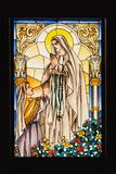 Ibajay St. Peter Church mosaic window stock photos
