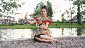 Iban dama Jest ubranym Jej Tradycyjnego kostium obraz royalty free