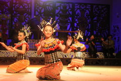 Iban dance. Performed at cultural village sarawak Stock Photo