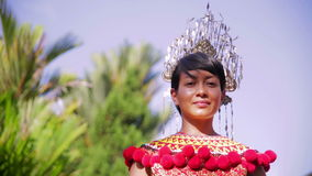 Iban tribal woman with traditional clothes Stock Images