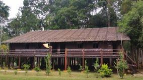Iban Tribe Longhouse in Borneo Sarawak Stock Foto's
