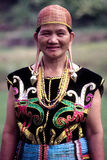 Iban woman. The Ibans are a branch of the Dayak peoples of Borneo. In Malaysia, most Ibans are located in Sarawak, a small portion in Sabah and some in west Royalty Free Stock Photography