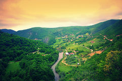 Ibar river valley,Serbia Stock Images