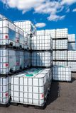 Ibc container. Ibc-container in a storage, Hamburg, Germany 2014 Royalty Free Stock Photo
