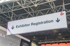 IBC-utställning 2018 på RAI-konferenskorridorerna på Amsterdam Nederländerna 2018 arkivbild