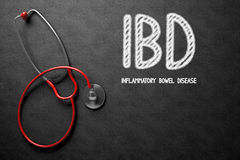 IBD Concept on Chalkboard. 3D Illustration. Black Chalkboard with IBD - Inflammatory Bowel Disease - Medical Concept. Medical Concept: Black Chalkboard with IBD Royalty Free Stock Image