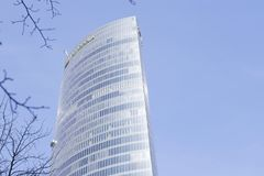 Iberdrola塔的外视图在一个晴天 免版税库存图片