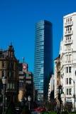 Iberdrola budynek bra? od Moyua kwadrata placu Moyua zdjęcia royalty free