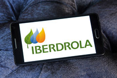 Iberdrola energy company logo Stock Photo
