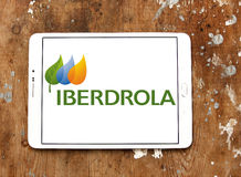 Iberdrola energy company logo Royalty Free Stock Photos