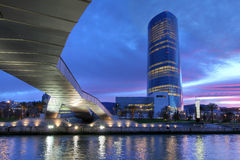 Iberdrola Kontrollturm, Bilbao, Spanien stockfotografie