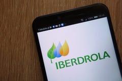 Iberdrola logo displayed on a modern smartphone