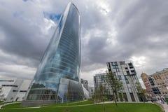 Iberdrola torn i Bilbao Arkivbild