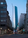 The Iberdrola Tower. BILBAO, SPAIN - DECEMBER 26: The Iberdrola Tower was finished in 2011. The tower, built as Iberdrola's headquarters, is the tallest building Stock Images