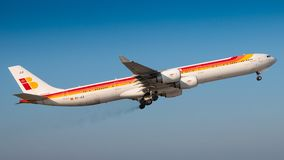 A340 Iberia стоковое изображение rf