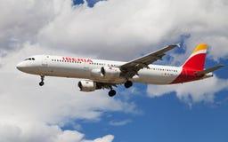 Iberia Aerobus A321 Obrazy Stock