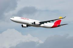 Iberia Airbus obraz royalty free