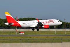 Iberia Airbus expreso A320 Imagen de archivo libre de regalías