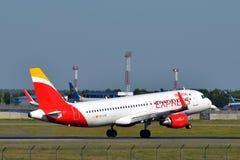 Iberia Airbus expreso A320 Fotos de archivo libres de regalías