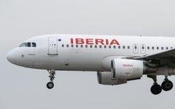 Iberia Airlime Aerobus A320 Zdjęcia Royalty Free